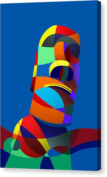 Easter Island Blue Canvas Print
