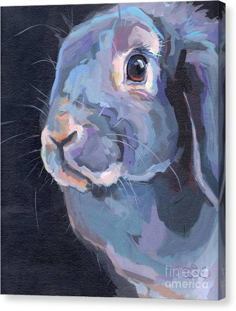 Lavendar Canvas Print - Easter Lop by Kimberly Santini