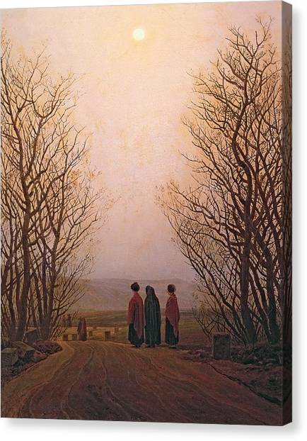 Pilgrims Canvas Print - Easter Morning, 1833 Oil On Canvas by Caspar David Friedrich