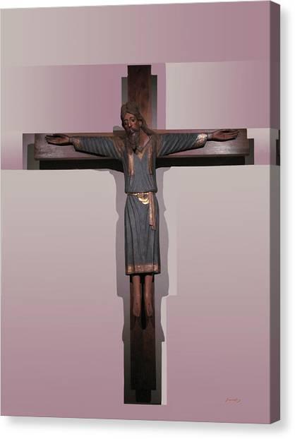 Easter Pasqua Croce Di Gesu Cross Of Jesus Canvas Print