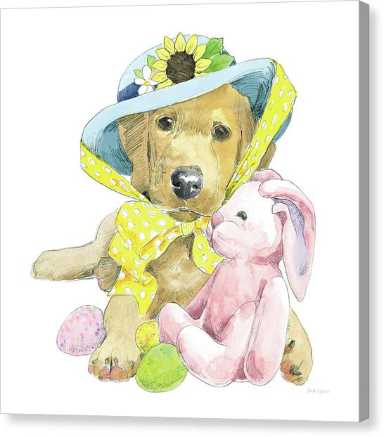 Easter Eggs Canvas Print - Easter Pups Vi by Beth Grove