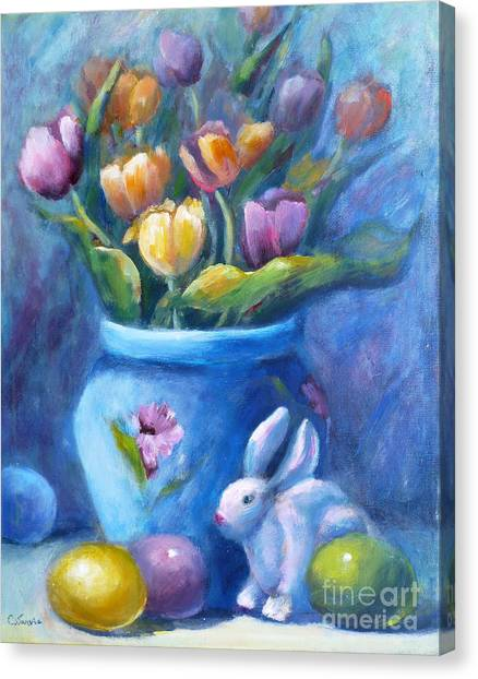 Easter Still Life Canvas Print