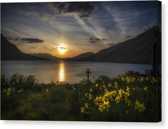 Easter Sunday Sunset Canvas Print by John Mee