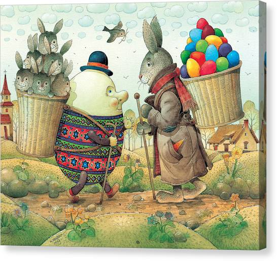 Easter Eggs Canvas Print - Eastereggs 03 by Kestutis Kasparavicius