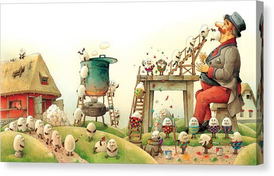 Easter Eggs Canvas Print - Eastereggs 07 by Kestutis Kasparavicius