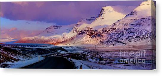 Eastern Iceland Mountain Pass Canvas Print