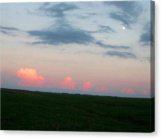 Eastern Kansas Moonrise Canvas Print