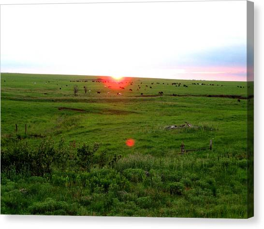 Eastern Kansas Sunset Canvas Print