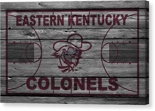 Eastern Kentucky University Canvas Print - Eastern Kentucky Colonels by Joe Hamilton