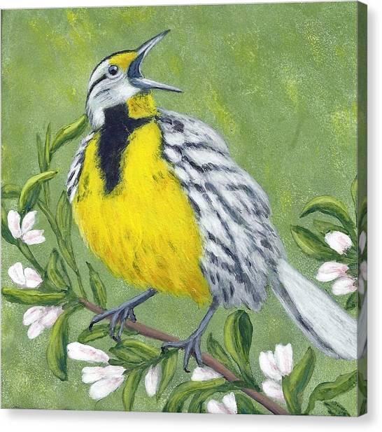 Eastern Meadowlark Canvas Print