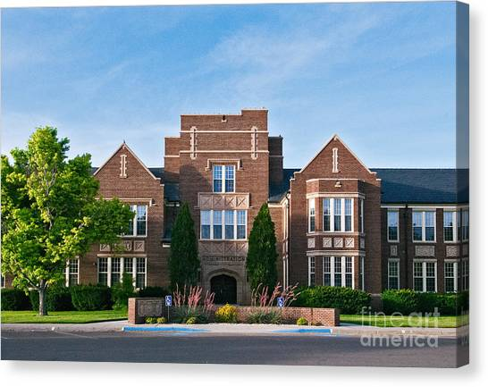Canvas Print featuring the photograph Eastern New Mexico Administration by Mae Wertz