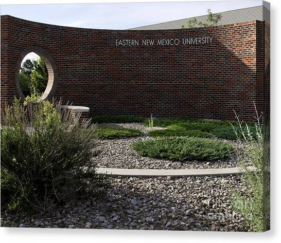 Canvas Print featuring the photograph Eastern New Mexico University by Mae Wertz