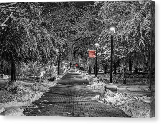 Washington State University Canvas Print - Eastern Path With Red by Mark Kiver