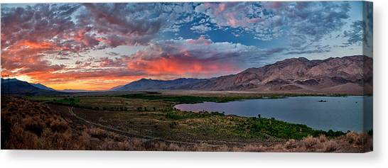 Eastern Sierra Sunset Canvas Print