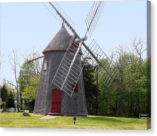 Eastham Windmill Canvas Print by Catherine Gagne