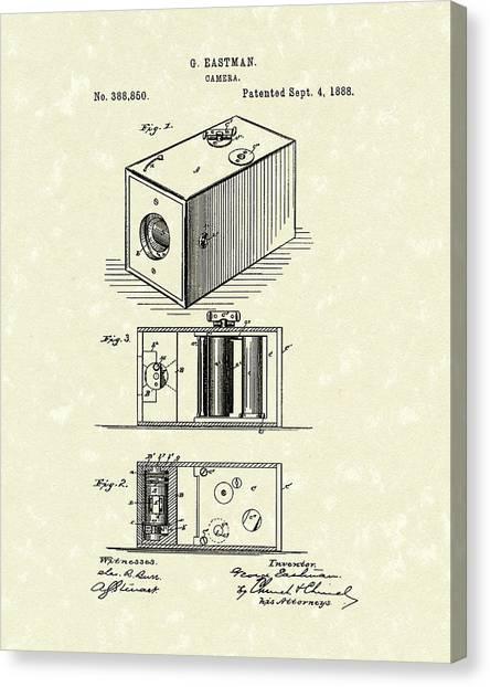 Eastman Camera 1889 Patent Art Canvas Print