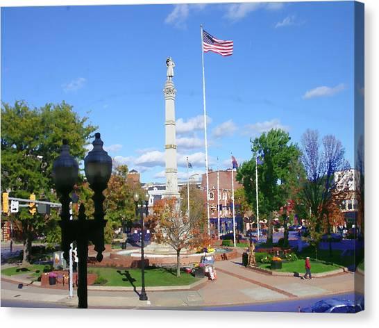 Easton Pa - Civil War Monument Canvas Print by Jacqueline M Lewis