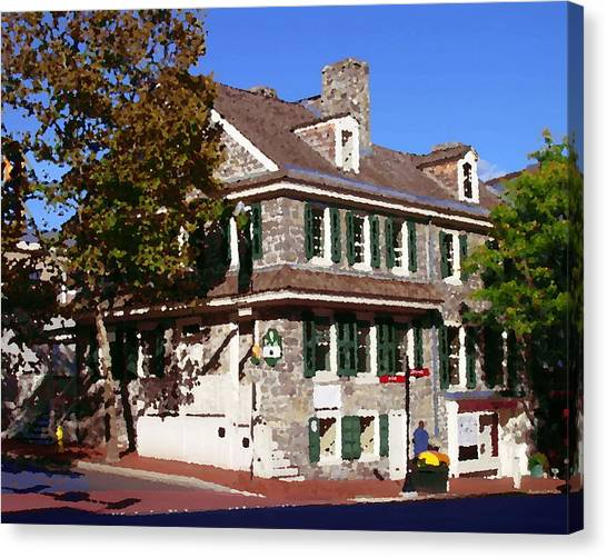 Easton Pa - Bachmann House Abstract Canvas Print by Jacqueline M Lewis