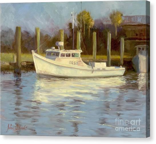 Shem Creek Canvas Print - Easy Lady by John Albrecht