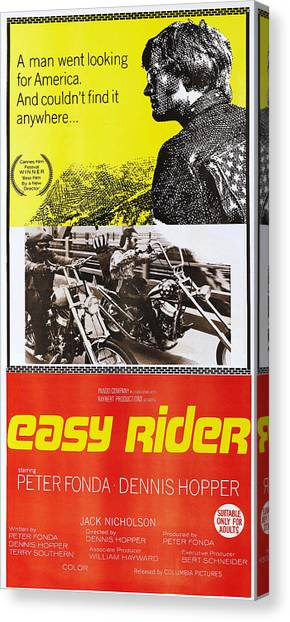 Dennis Hopper Canvas Print - Easy Rider, Australian Poster, Peter by Everett