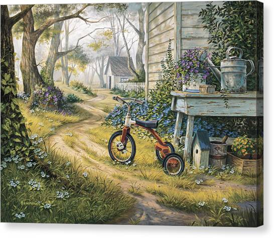 Child Canvas Print - Easy Rider by Michael Humphries