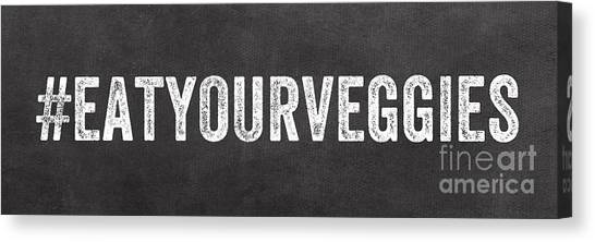 Cooking Canvas Print - Eat Your Veggies by Linda Woods