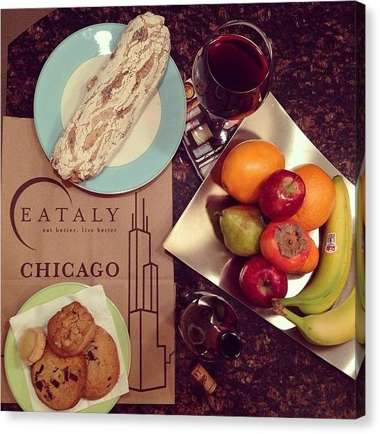 Red Wine Canvas Print - Eataly Chicago Opened! But It Was So by Blogatrixx