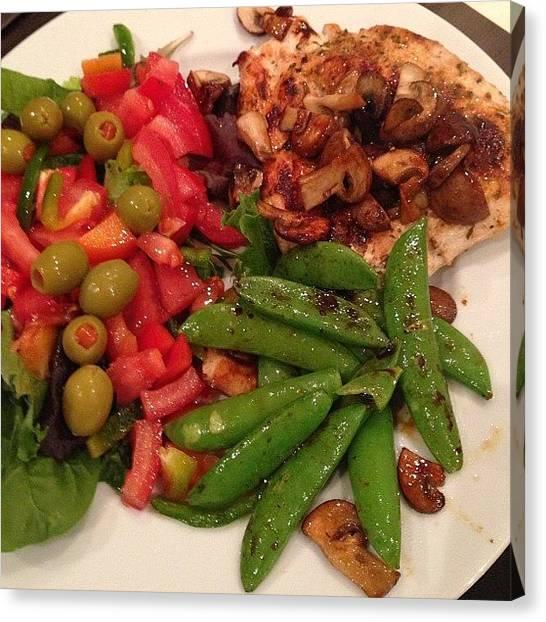 Salad Canvas Print - #eating #clean #lean #health #healthy by Baz Twyman
