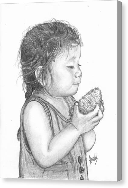 Eating Coconut Canvas Print