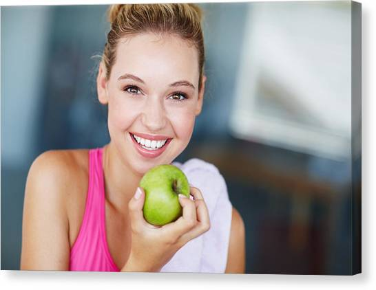 Eating The Right Way For Great Health Canvas Print by GlobalStock