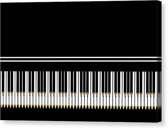 Ivory Canvas Print - Ebony And Ivory by Udo Dittmann
