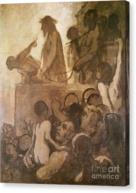 Messiah Canvas Print - Ecce Homo by Honore Daumier