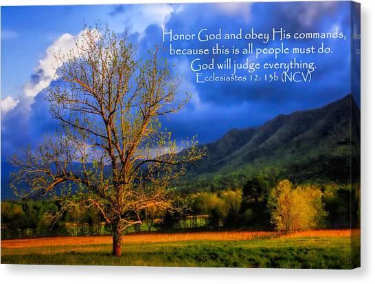 Ecclesiastes 12 - 13b Canvas Print