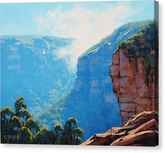 Neck Canvas Print - Echo Point Katoomba by Graham Gercken