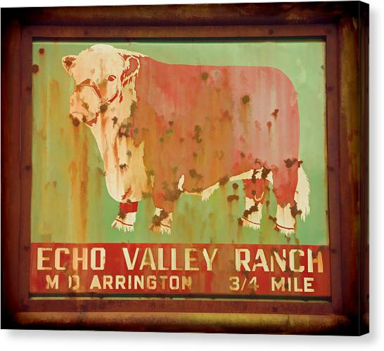 Echo Valley Ranch Stylized Canvas Print