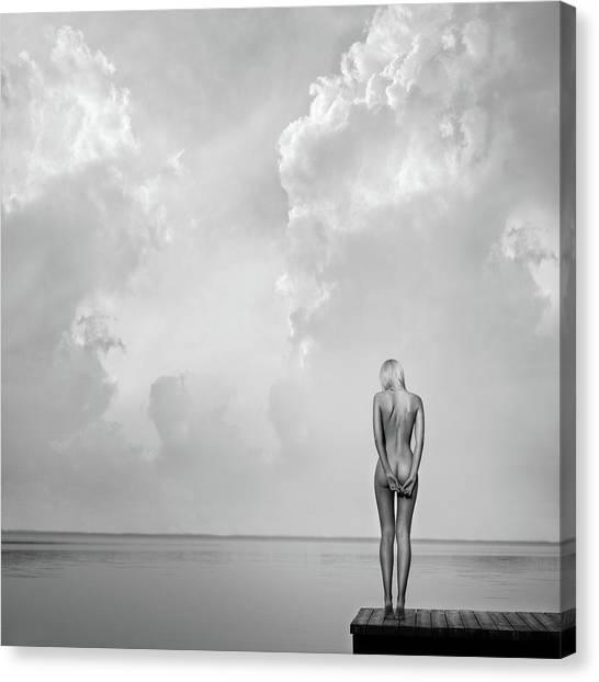 Dock Canvas Print - Echospace by Paulius Stefanovicius