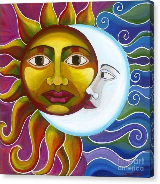 Canvas Print featuring the painting Eclipse by Carla Bank