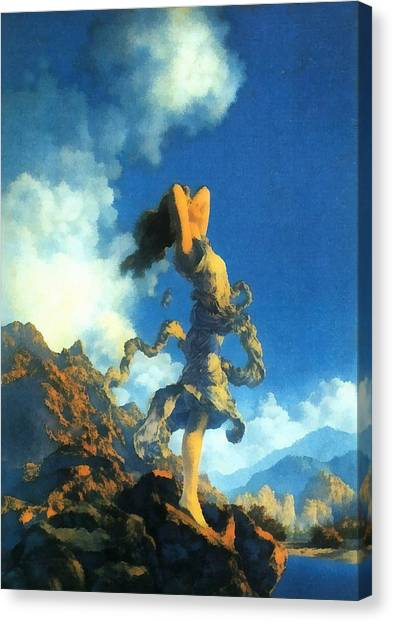 Mountian Canvas Print - Ecstasy by Maxfield Parrish