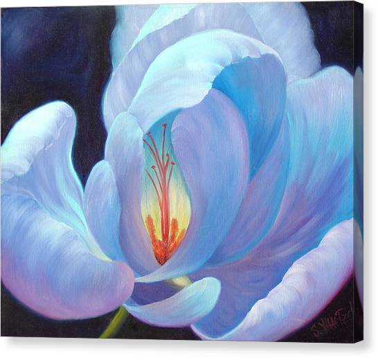 Canvas Print featuring the painting Ecstasy by Sandi Whetzel