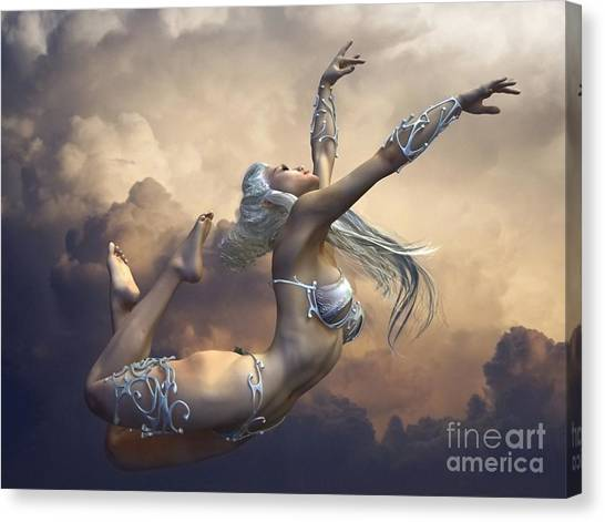 Canvas Print featuring the digital art Ecstasy by Sandra Bauser Digital Art