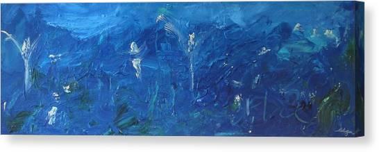 Ed Among The Angels IIi Canvas Print by Lawrence  Dugan
