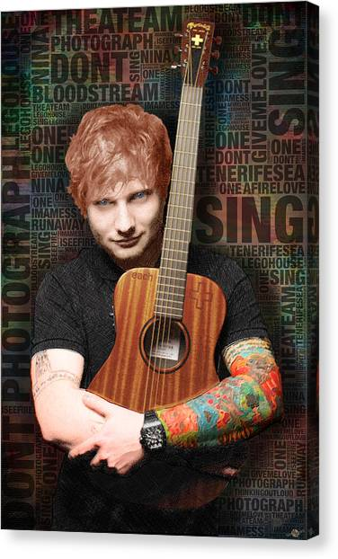 Ed Sheeran And Song Titles Canvas Print