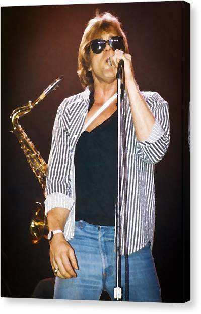 Eddie Money Singing Canvas Print