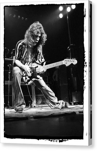 Van Halen Canvas Print - Eddie Van Halen by Sue Arber