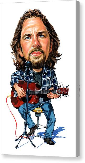 Pearl Jam Canvas Print - Eddie Vedder by Art