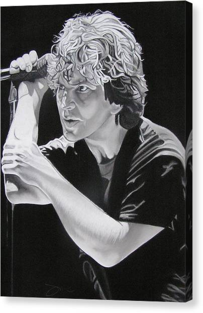 Pearl Jam Canvas Print - Eddie Vedder  by Joshua Morton
