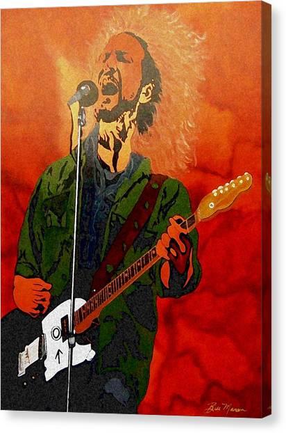 Eddie Vedder-eddie Live Canvas Print