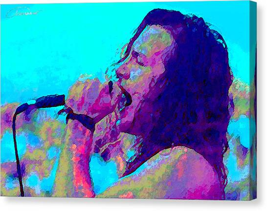 Pearl Jam Canvas Print - Eddie Vedder by John Travisano