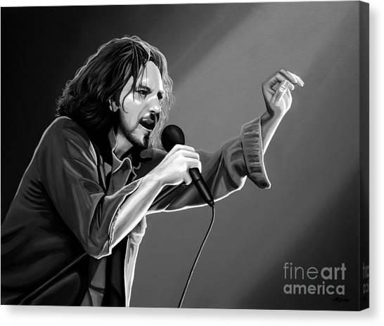Pearl Jam Canvas Print - Eddie Vedder  by Meijering Manupix