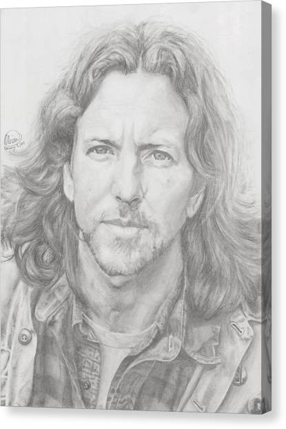 Pearl Jam Canvas Print - Eddie Vedder by Olivia Schiermeyer